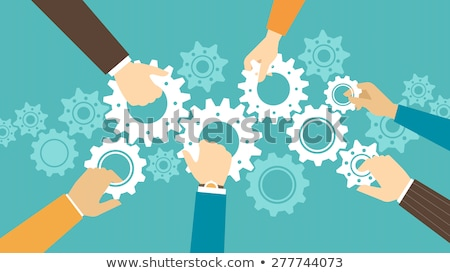 Males Collaboration and Teamwork of People Vector Stock photo © robuart