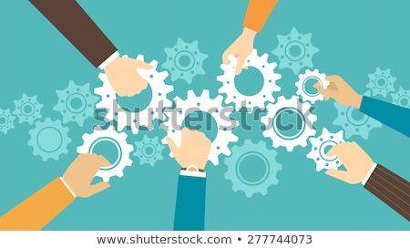Samenwerking teamwerk mensen vector mensen die Stockfoto © robuart