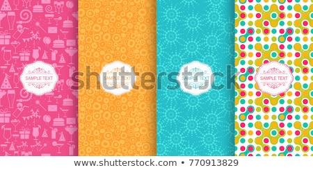 Kolekcja kolorowy bezszwowy wzorców gryzmolić Zdjęcia stock © ExpressVectors