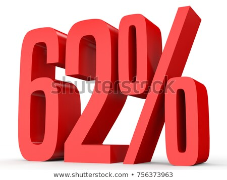 Stockfoto: Sixty Two Percent On White Background Isolated 3d Illustration