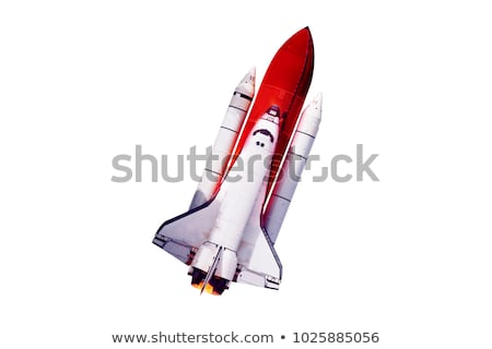 Stock photo: Space Shuttle and spiral galaxy.