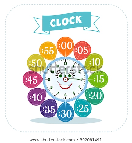 clock face cartoon educational worksheet Stock photo © izakowski