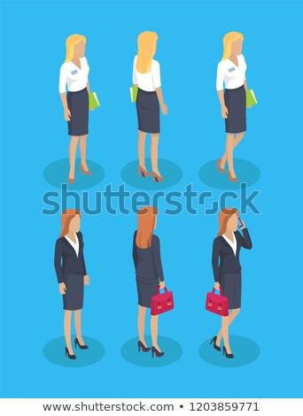 Woman Formal Wear Set Builder Vector Illustration Stock photo © robuart