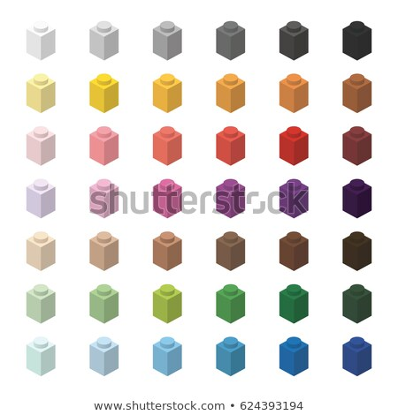 Children brick toy simple color spectrum bricks 1x1 high, isolated on white background  Stock photo © ukasz_hampel