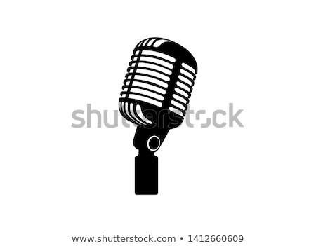 Microfono radio concerto podcast musica show Foto d'archivio © rogistok