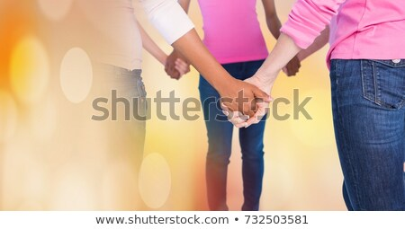 乳癌 女性 トランジション 手をつない デジタル複合 女性 ストックフォト © wavebreak_media