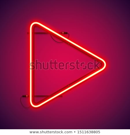 Red Neon Play Symbol Stock photo © Voysla