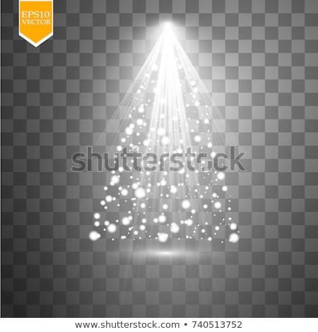 Abstract kerstboom deeltjes ontwerp winter behang Stockfoto © SArts