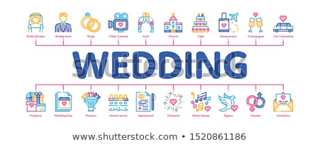 Wedding Minimal Infographic Banner Vector Stock photo © pikepicture