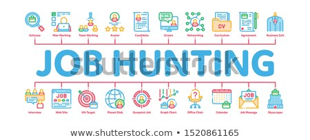 Job Hunting Minimal Infographic Banner Vector Stock photo © pikepicture