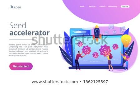 Startup landing pagina sjabloon zaad mentoring Stockfoto © RAStudio
