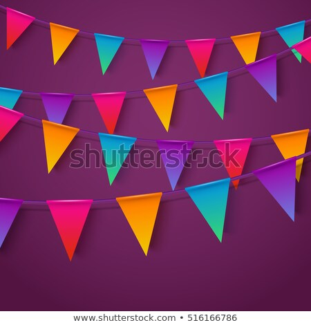 Celebração néon estilo grinalda bandeiras decoração Foto stock © SArts