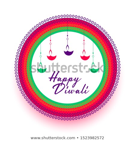 elegant happy diwali colorful flat style background stock photo © sarts