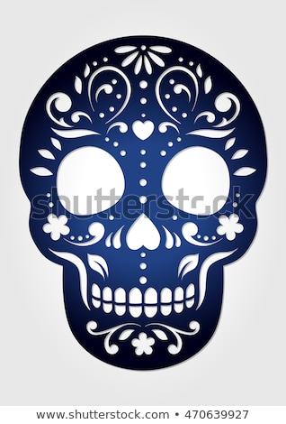 jour · morts · crâne · mexican · célébration · sucre - photo stock © cienpies
