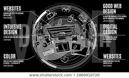 élégant promo illustration design travaux designer Photo stock © ConceptCafe