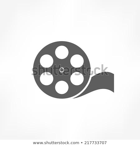 синий Film Reel изолированный белый искусства фильма Сток-фото © cidepix