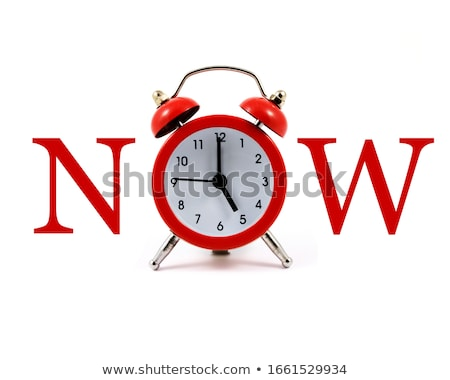 The Time Is Now Clock Concept Stock photo © ivelin