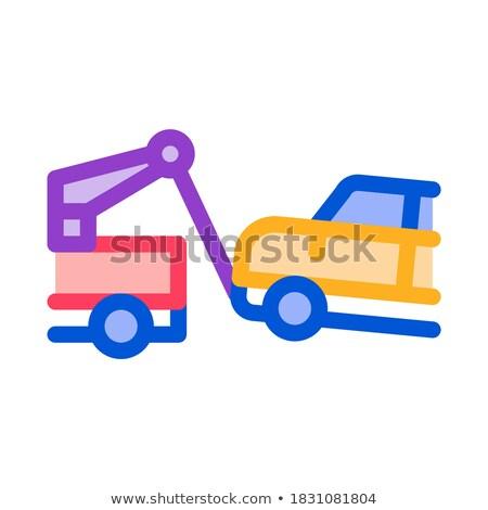 échapper machine camion icône vecteur Photo stock © pikepicture