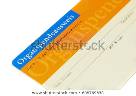 Organ verici kart örnek sağlık hastane Stok fotoğraf © adrenalina