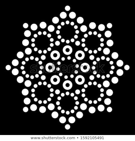 Mandala australisch vector ontwerp retro Stockfoto © RedKoala