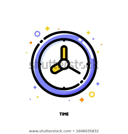 Icon of watch with cute wall clock for time management concept Stock photo © ussr