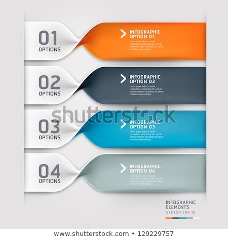Flèche brochure web design modèle affaires Photo stock © Anna_leni