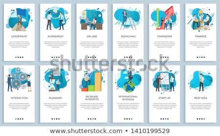Internationale bedrijfsleven teamwerk startup ingesteld vector zakenman Stockfoto © robuart