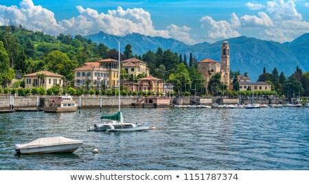 Kerk meer Italië Europa boom muur Stockfoto © ShustrikS