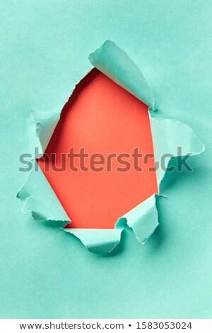 Torn бирюзовый бумаги коралловые ручной работы украшение Сток-фото © artjazz