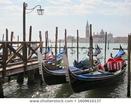 Vieux bois pier parking italien tradition Photo stock © artjazz