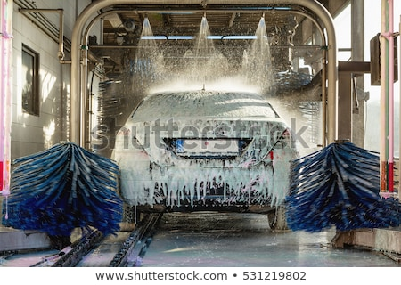 Automatic Car Wash With Water Stock photo © AndreyPopov