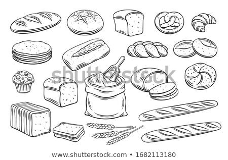 Tarwe toast een witte bestand Stockfoto © shyshka