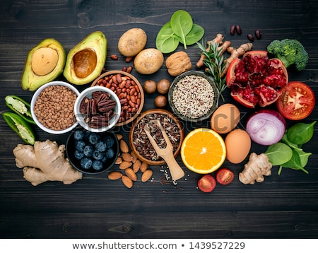 Ingredients for the healthy foods selection, concept of healthy food set up Stock photo © Illia