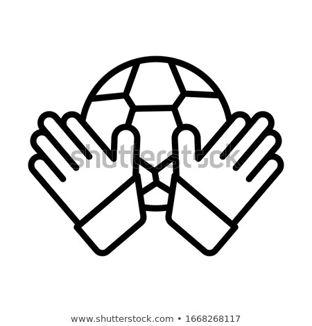 Kapus labda ikon skicc illusztráció vektor Stock fotó © pikepicture