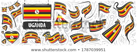 Vector set of the national flag of Uganda in various creative designs Stock photo © butenkow