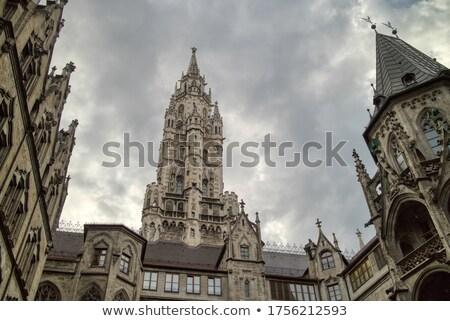 Architektoniczny budynków szary mętny niebo Monachium Zdjęcia stock © artjazz