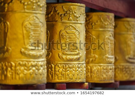 Prayer wheels in Tabo Monastery Stock photo © dmitry_rukhlenko