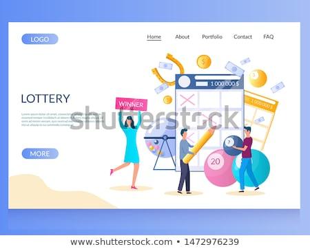 Loteria jogo bandeira empresário mulher Foto stock © RAStudio