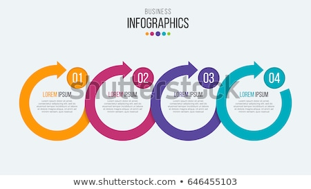 four steps circular timeline infographic template design Stock photo © SArts