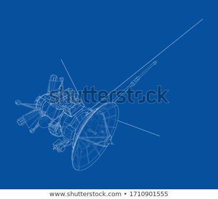 アンテナ 通信 衛星 巨大な ビジネス 空 ストックフォト © Ansonstock