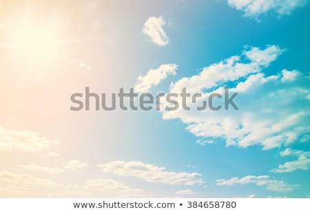 曇った 空 青空 白 雲 ストックフォト © Ansonstock