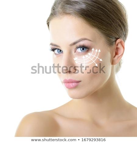 belo · limpar · cosméticos · mulher · retrato - foto stock © iko