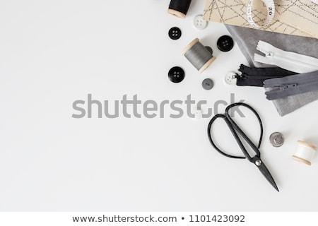 ミシン · ボックス · 刺繍 · カラフル · スレッド · バスケット - ストックフォト © foka