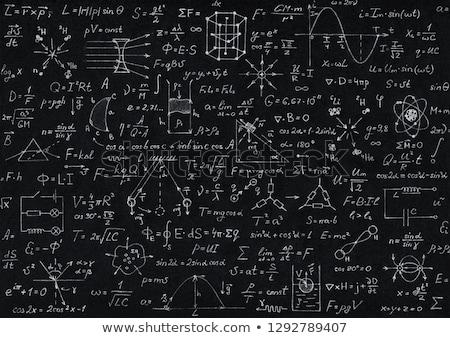 物理学 書かれた 紙 作業 教師 ストックフォト © simply