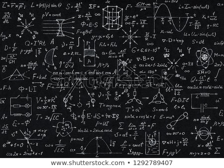 Physik Formeln geschrieben Papier Arbeit Lehrer Stock foto © simply