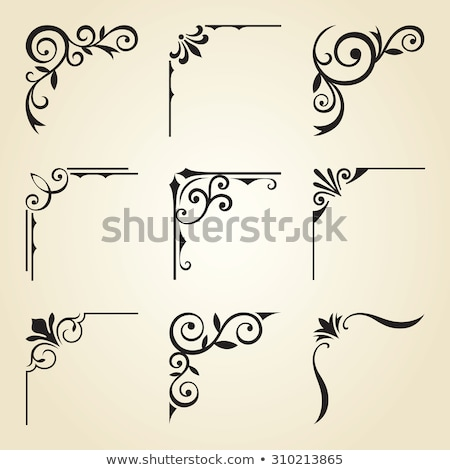 Rogu arkusza dekoracyjny projektu ramki biały Zdjęcia stock © vlastas