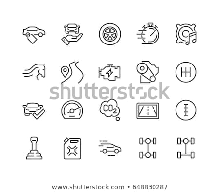electric powered car icons Stock photo © oblachko