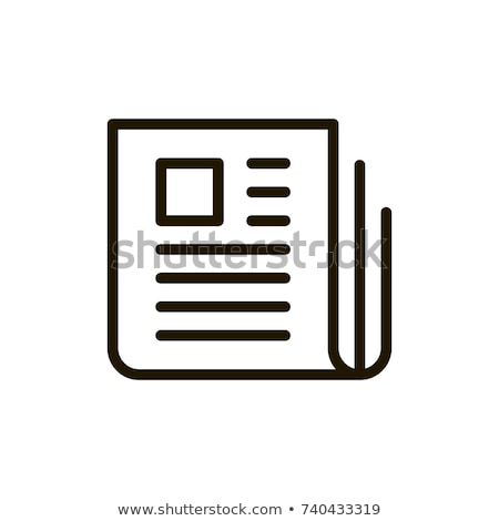 Abstract krant icon papier krant nieuws Stockfoto © pathakdesigner