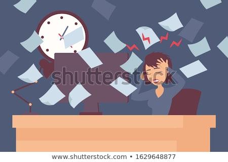 Działalności terminy wymagający kobiet dziewcząt Zdjęcia stock © lovleah
