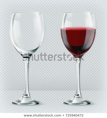 空っぽ · 赤ワイン · ガラス · 孤立した · 白 · デザイン - ストックフォト © leeser